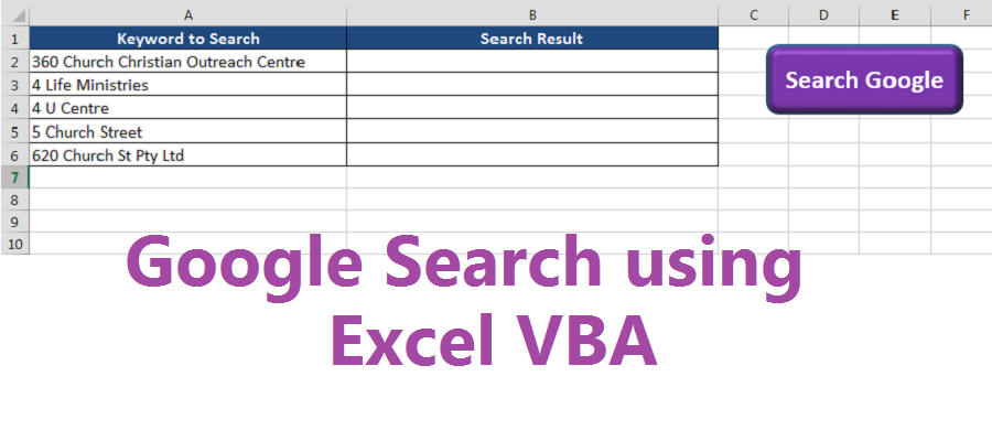 Google Search using Excel VBA - Free Excel Tips & Tricks ...